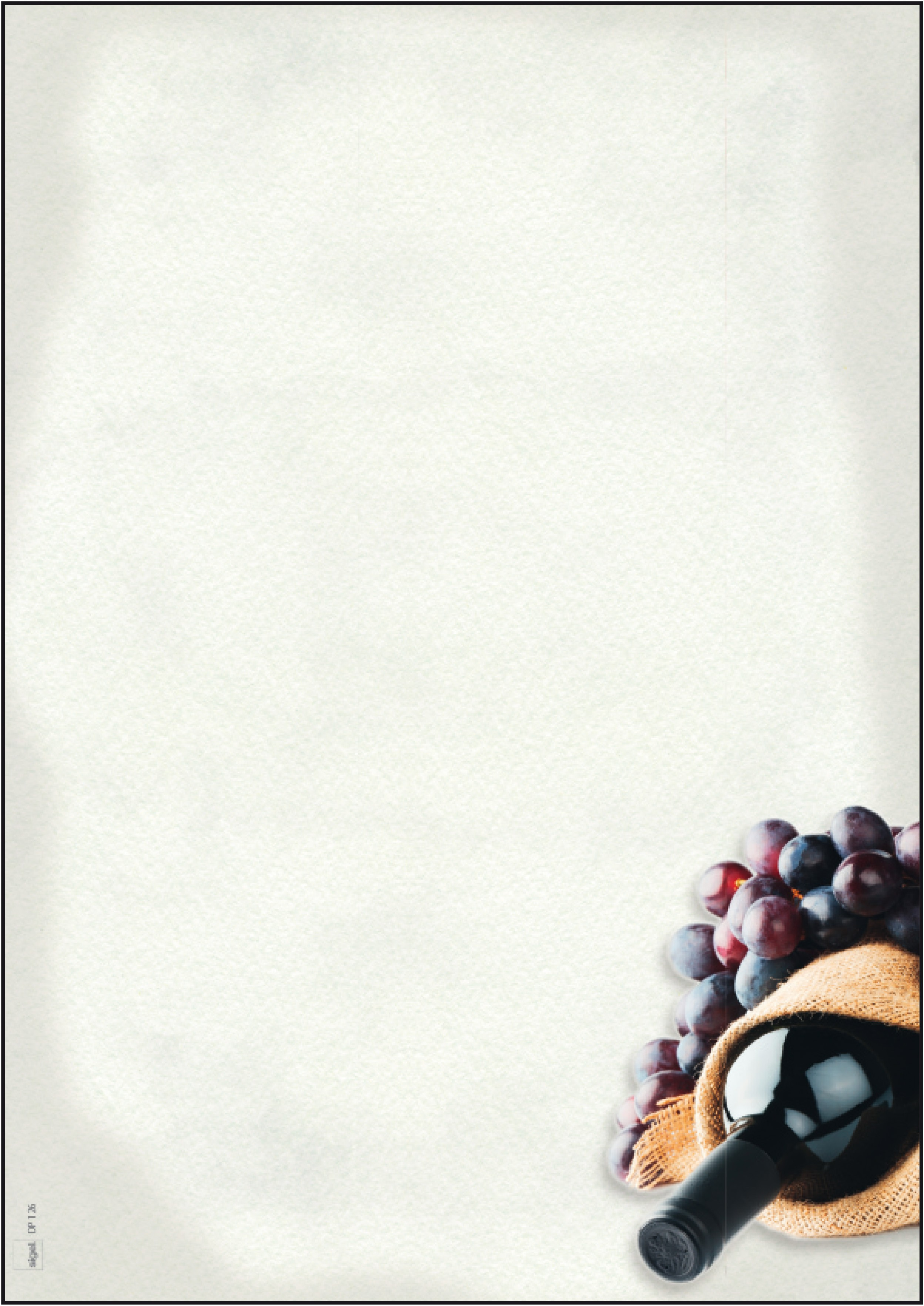 """Papier créatif """"carte des vins"""""""