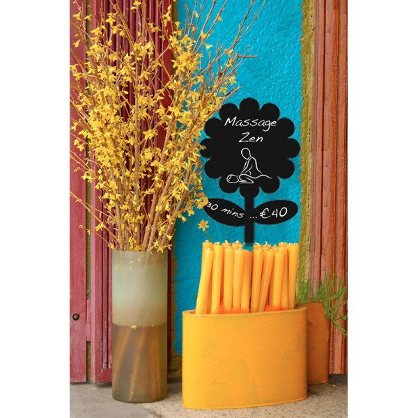 Ardoise Silhouette murale Fleur