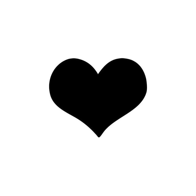 Ardoise restaurant en forme de cœur