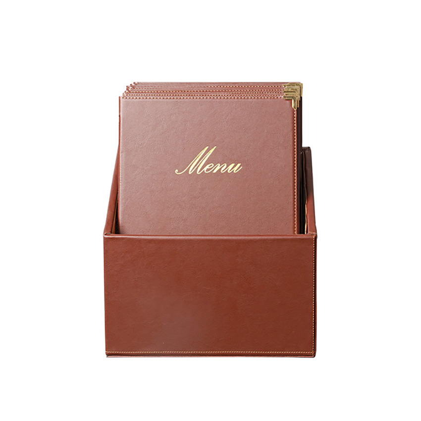 Classic Brown A4 - BOX 20 protects-menus