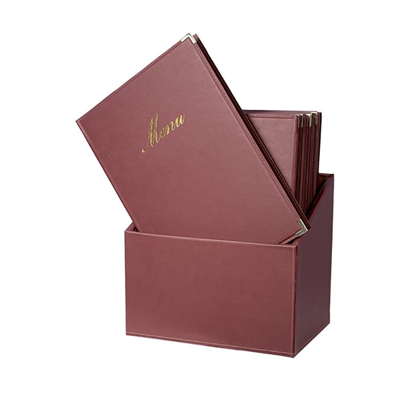 Classique A4 Bordeaux - BOX 20 protège-menus