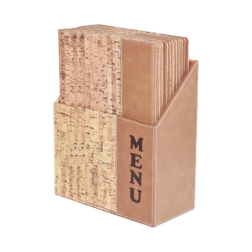 Corcho A4 - caja 10 protege-menús de diseño