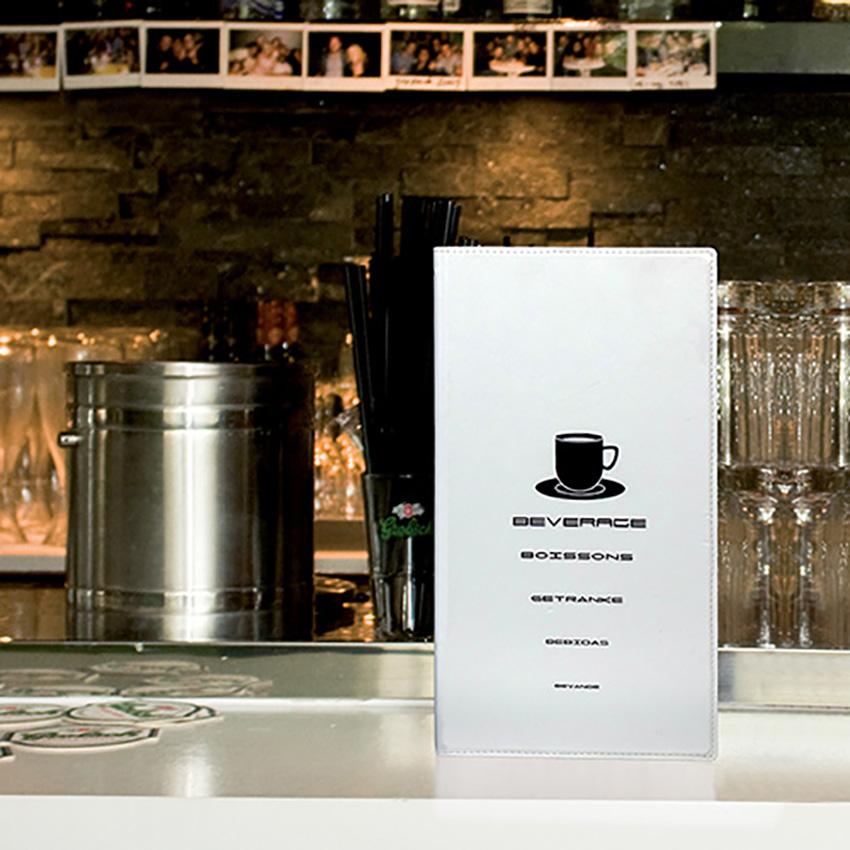 Mapa de bebidas Design branco