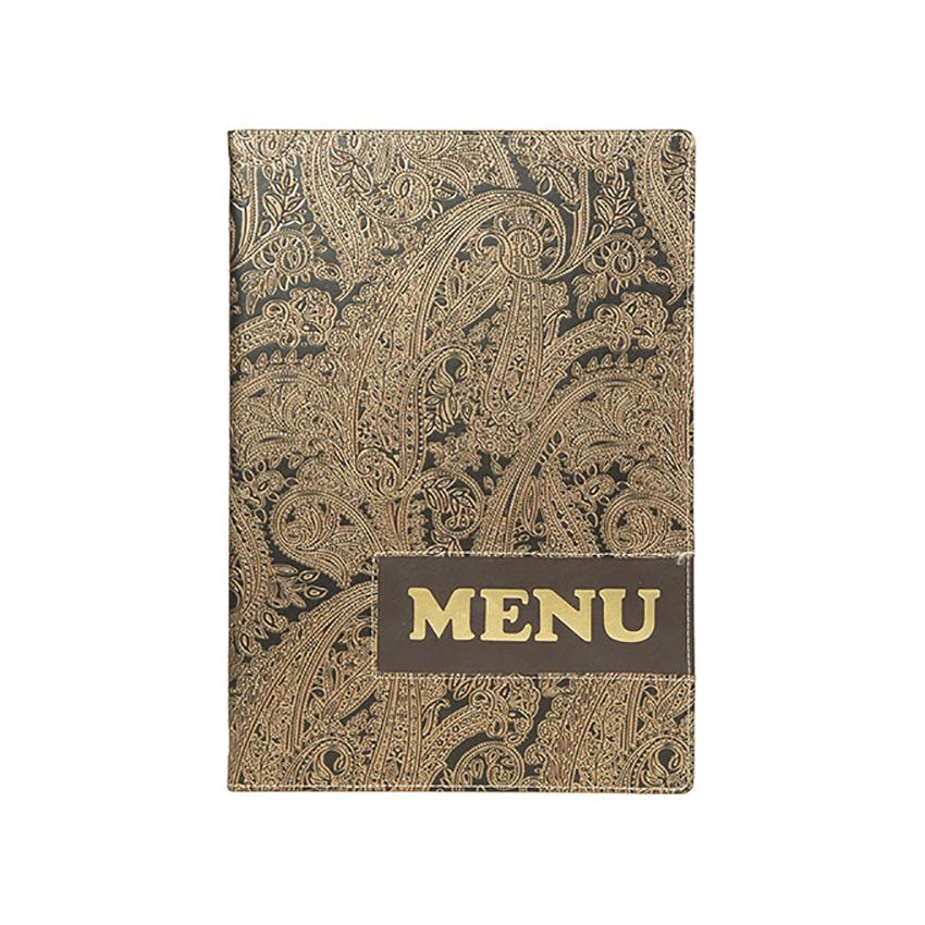 Beschermt-menus A4 ontwerp Paisley