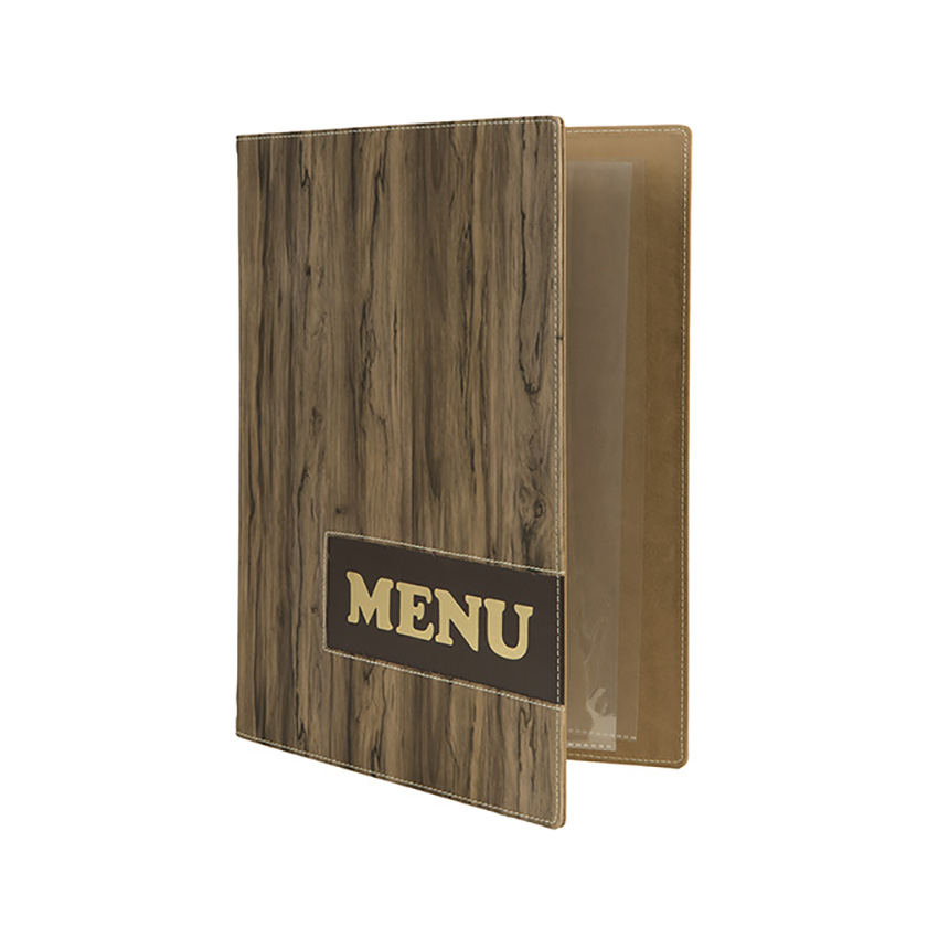 Protège-menus A4 Design Wood