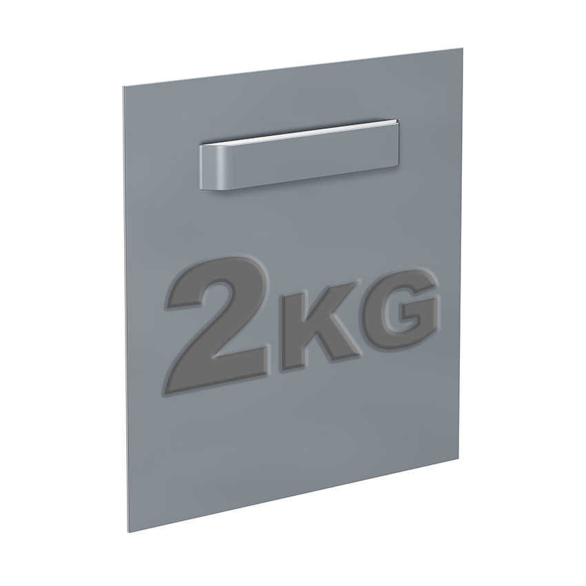 Attache Dibond 70 x 70 mm : max 2 kg