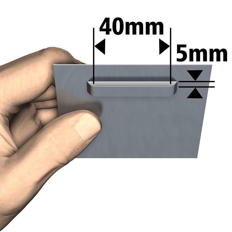 Attache Dibond 100 x 200 mm : max 12 kg