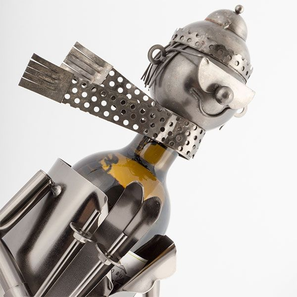 Porte bouteille motard en métal