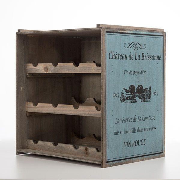 Caisse en bois porte bouteilles