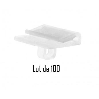 Clip crochet faux plafond parallèle - Lot de 100