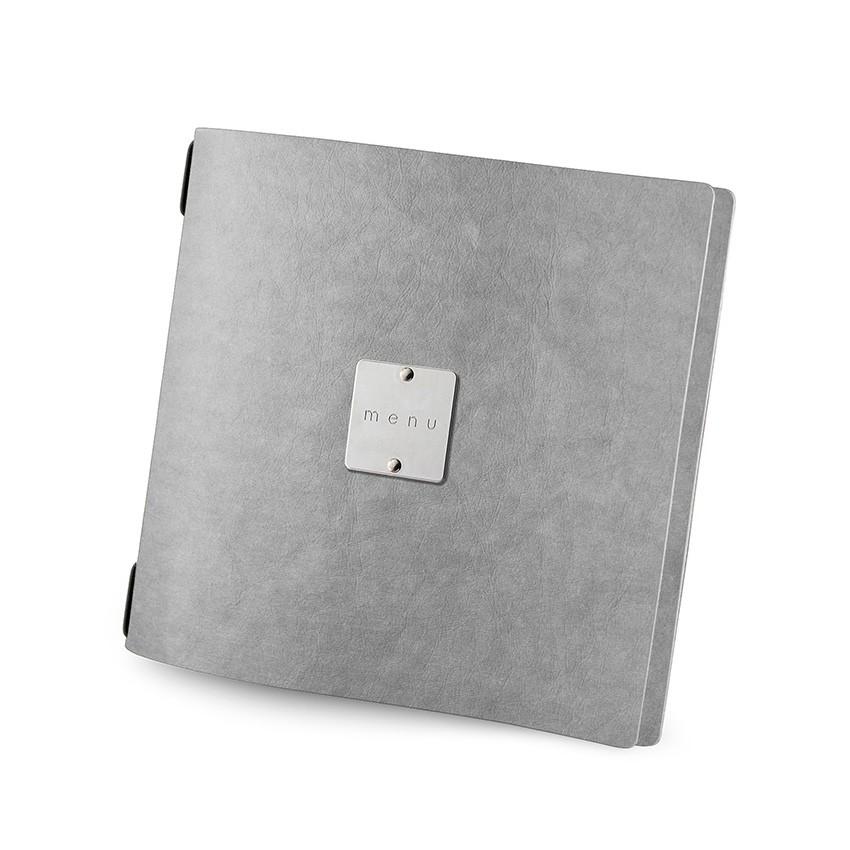Protège menu QUADRATO Ecologique gris aspect fibre lisse