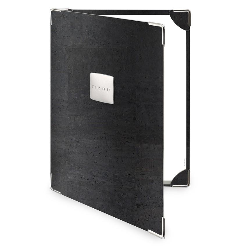 Protège menu 2 volets Sughero noir