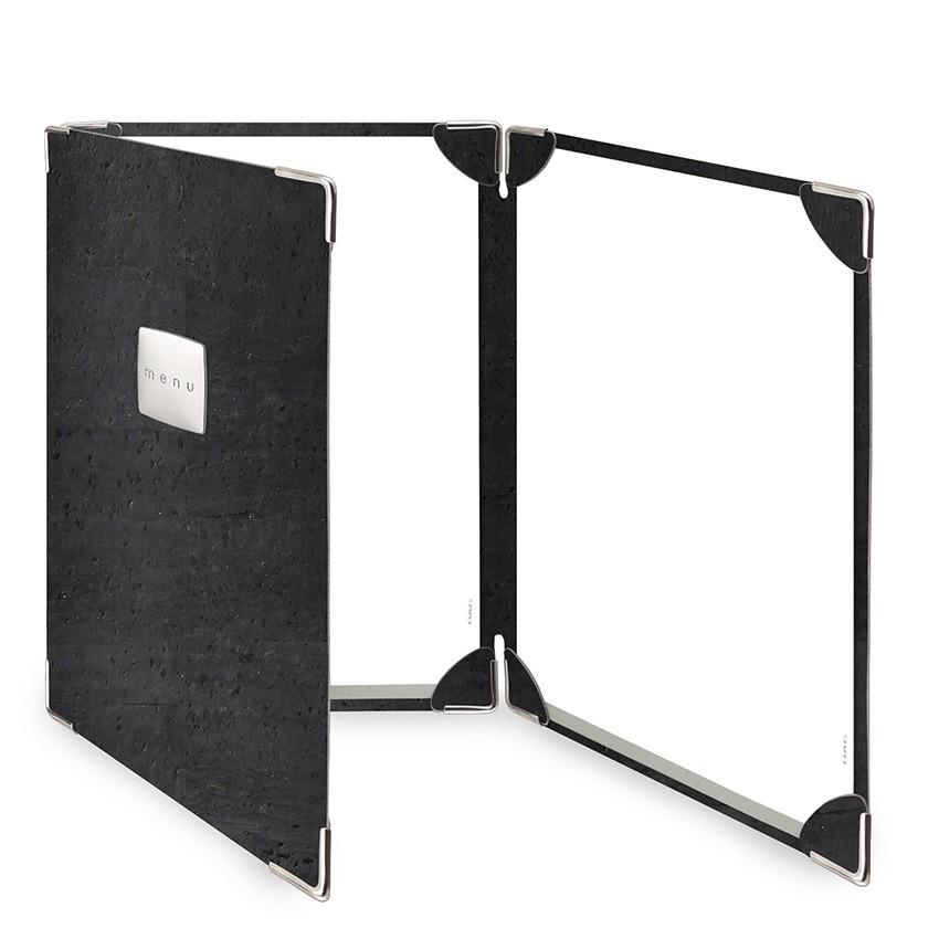 Protège menu 3 volets Sughero noir