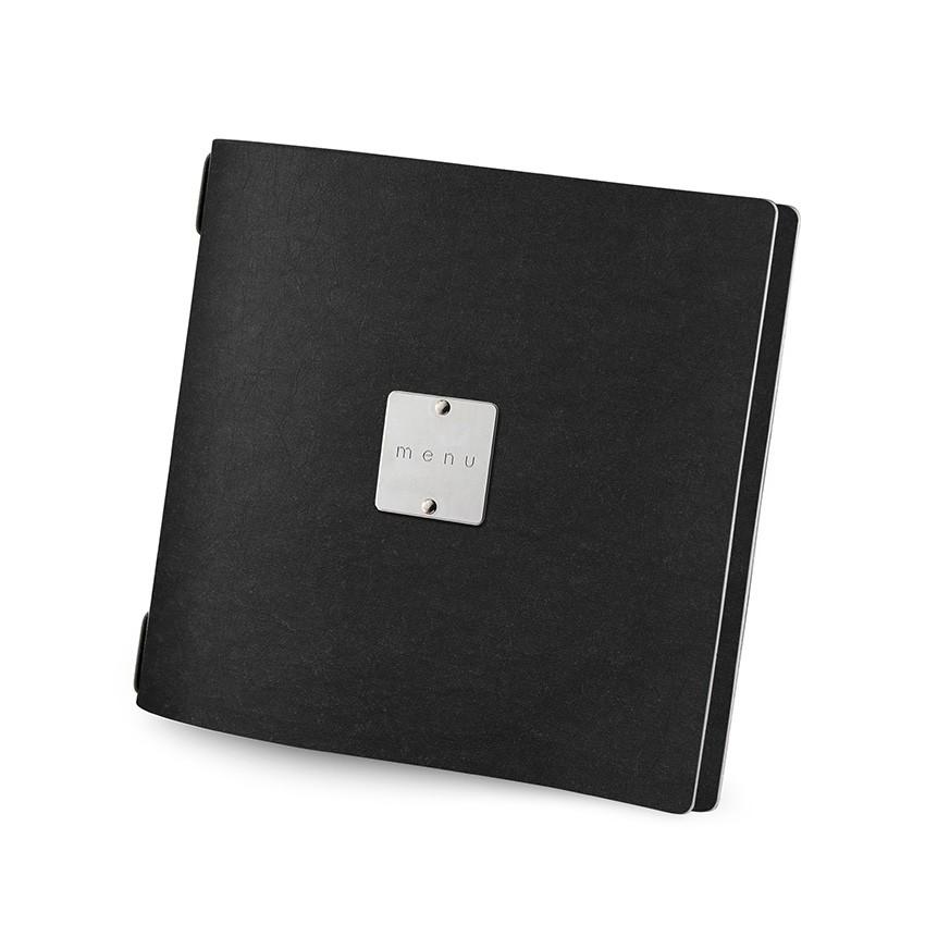 Protège menu QUADRATO Ecologique noir aspect fibre lisse