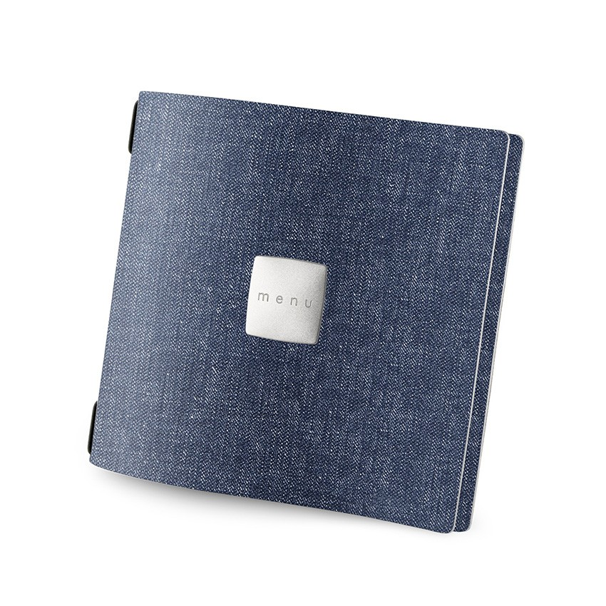 Protège menu QUADRATO MenuMenu bleu aspect jean's