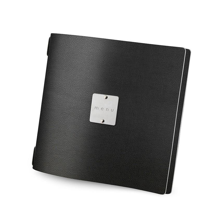 Protège menu QUADRATO MenuMenu noir aspect lisse
