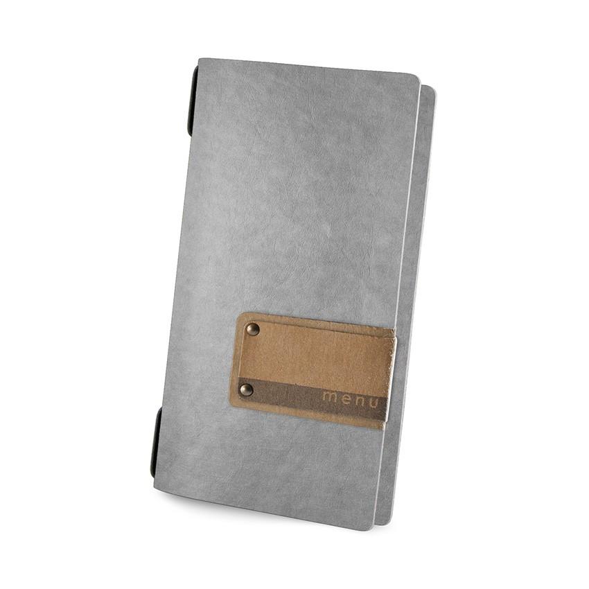 Protège menu POPIS Ecologique gris aspect fibre lisse