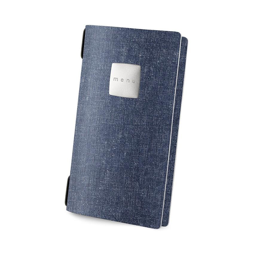 Protège menu POPIS MenuMenu bleu aspect jean's