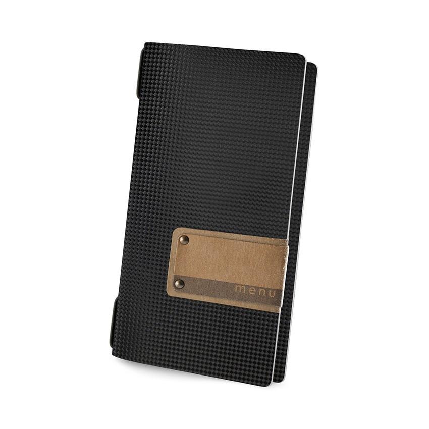 Protège menu POPIS MenuMenu noir aspect carbon