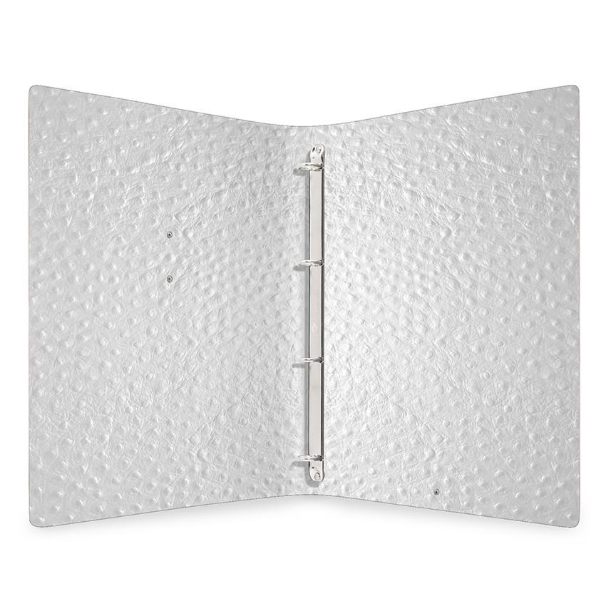 Protège menu MEC Fashion blanc aspect peau d'autruche