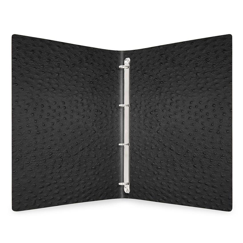 Protège menu MEC Fashion noir aspect peau d'autruche