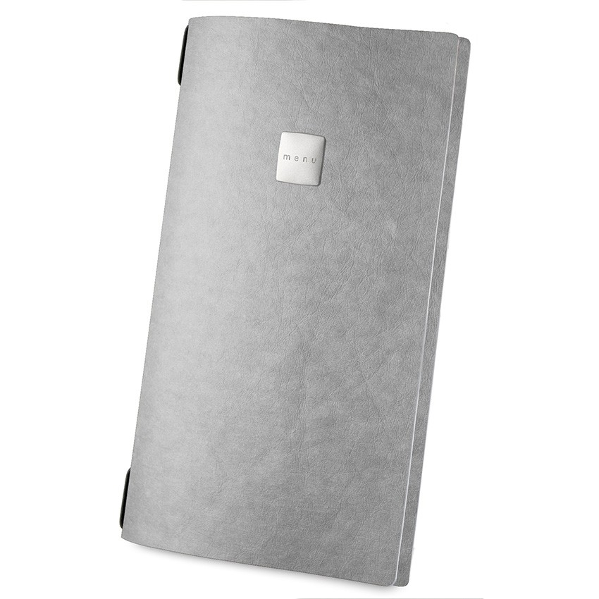 Protège menu MAXI Ecologique gris aspect fibre lisse