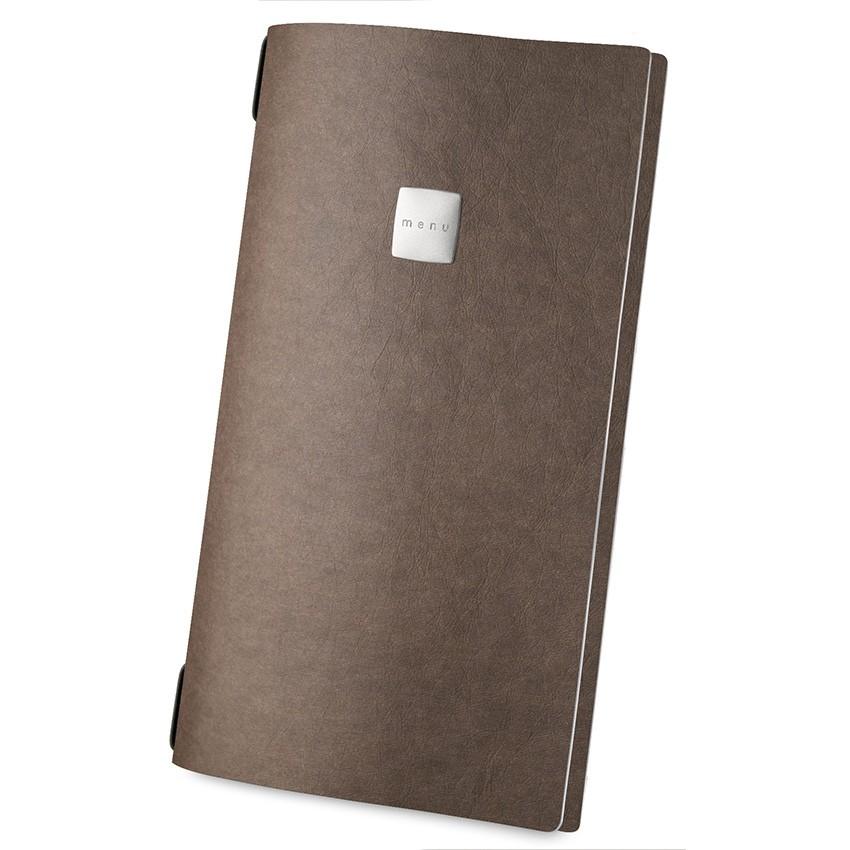Protège menu MAXI Ecologique marron aspect fibre lisse