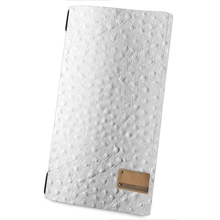 Protège menu MAXI Fashion blanc aspect peau d'autruche