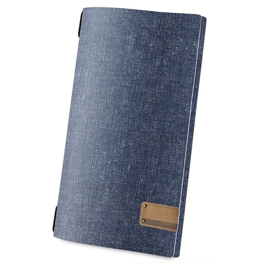 Protège menu MAXI MenuMenu bleu aspect jean's