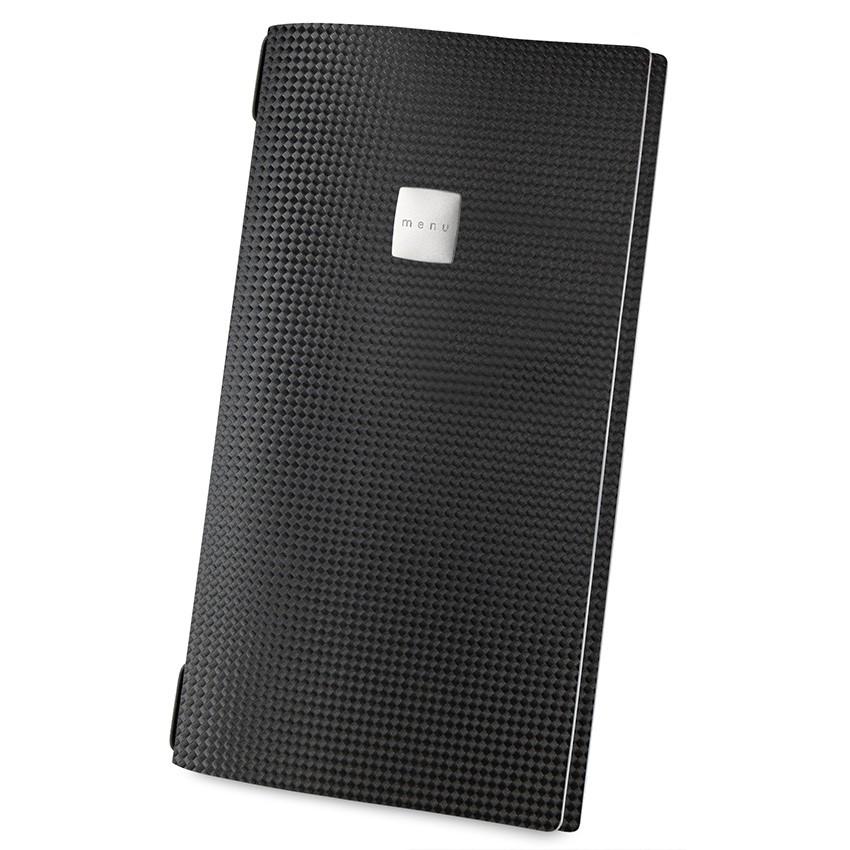 Protège menu MAXI MenuMenu noir aspect carbon