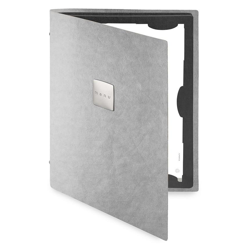 Protège menu FLAP Ecologique gris aspect fibre lisse