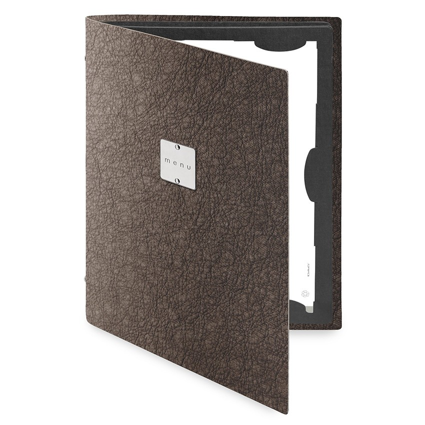 Protège menu FLAP Ecologique marron aspect peau