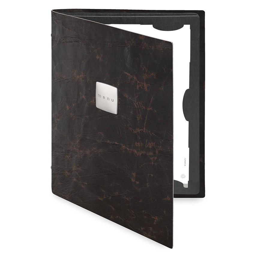 Protège menu FLAP Ecologique marron aspect vintage épais