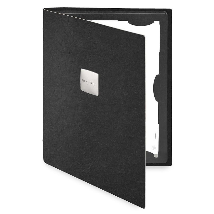 Protège menu FLAP Ecologique noir aspect fibre lisse