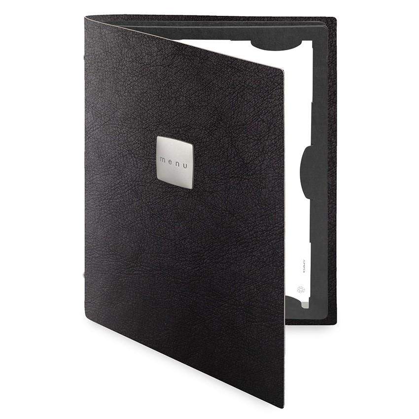 Protège menu FLAP Ecologique noir aspect peau