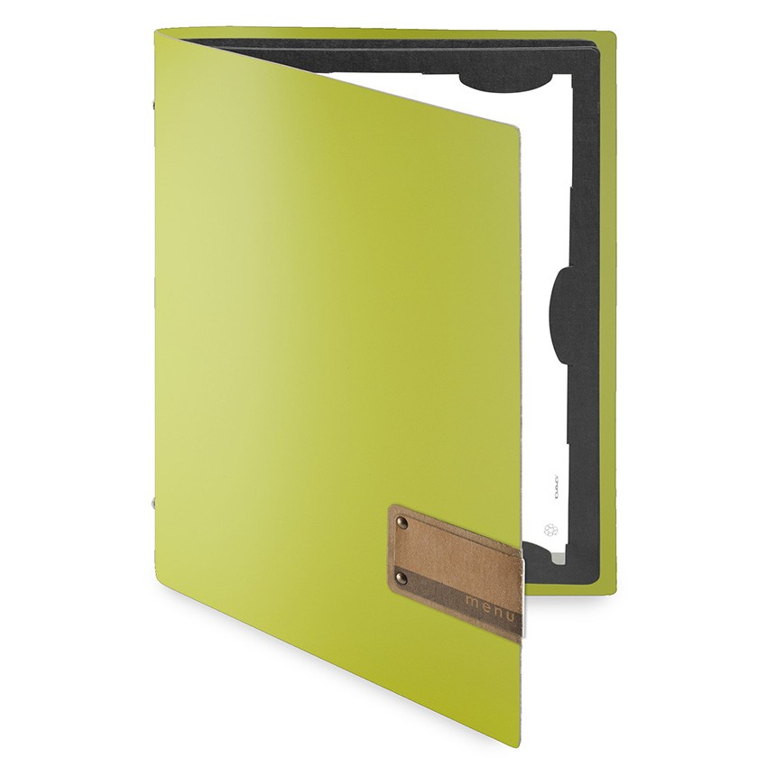 Protège menu FLAP Fashion citron vert aspect lisse