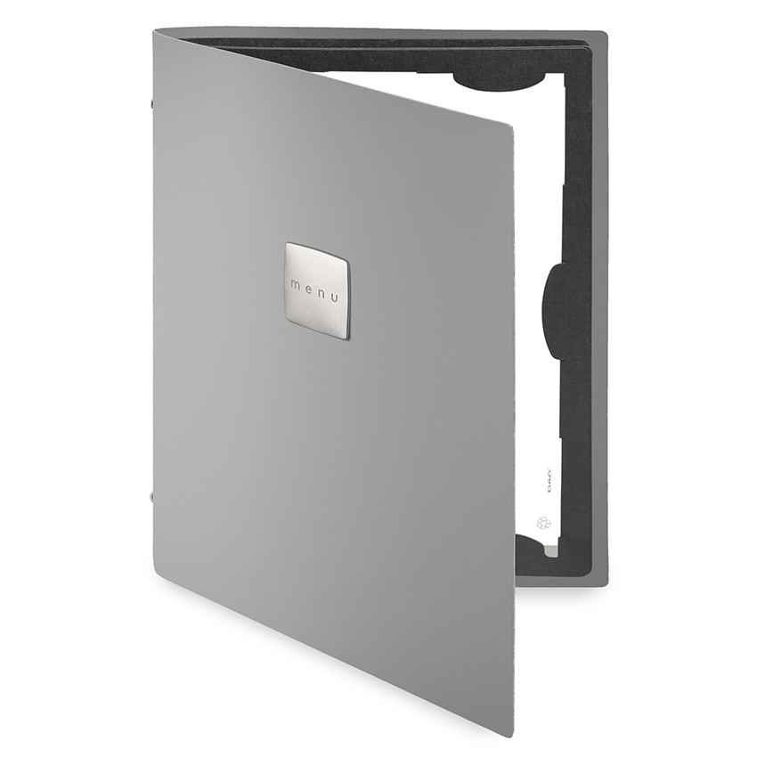 Protège menu FLAP Fashion gris aspect lisse