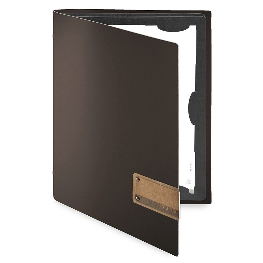 Protège menu FLAP Fashion marron aspect lisse