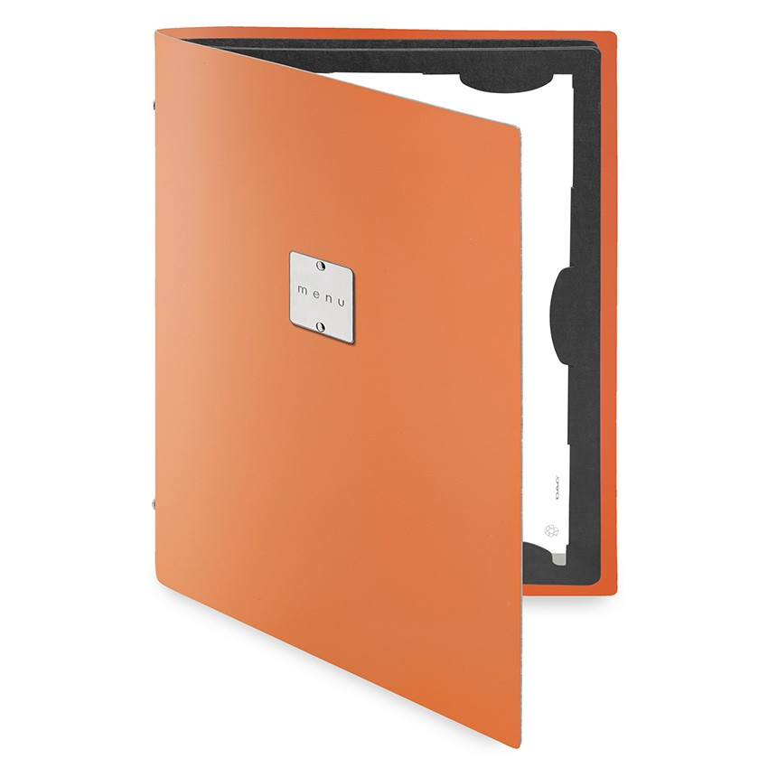 Protège menu FLAP Fashion orange aspect lisse