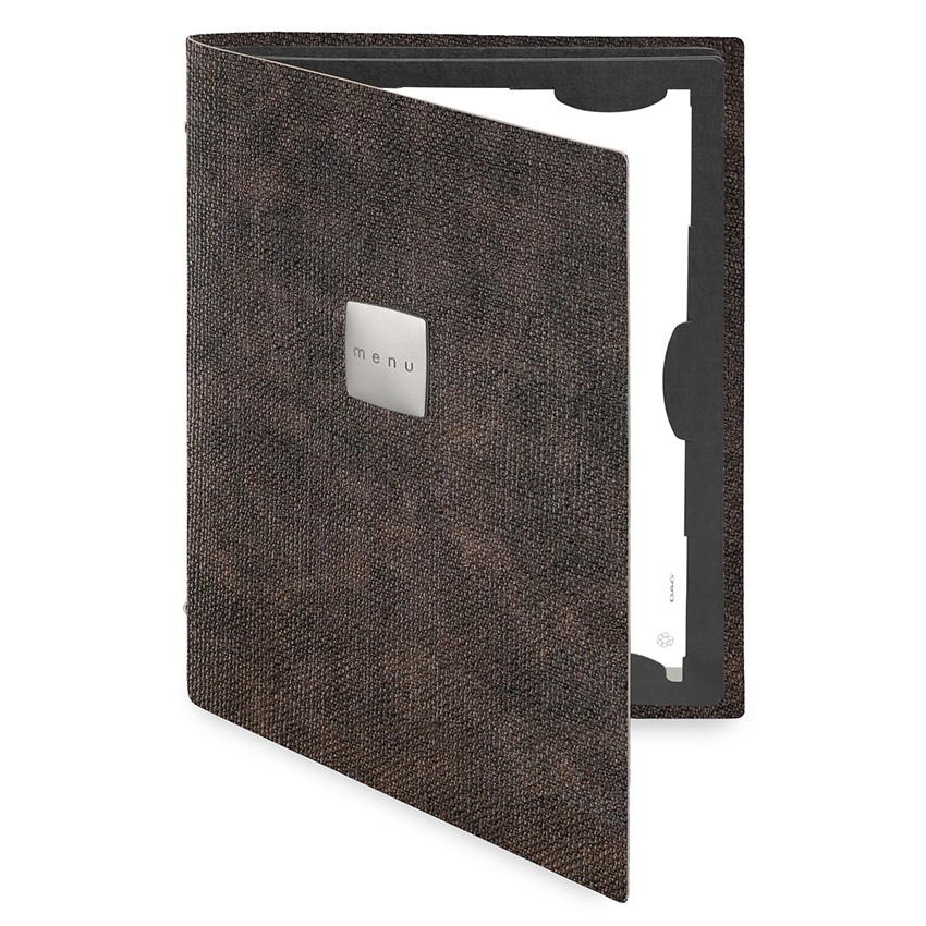 Protège menu FLAP MenuMenu Marron aspect jute