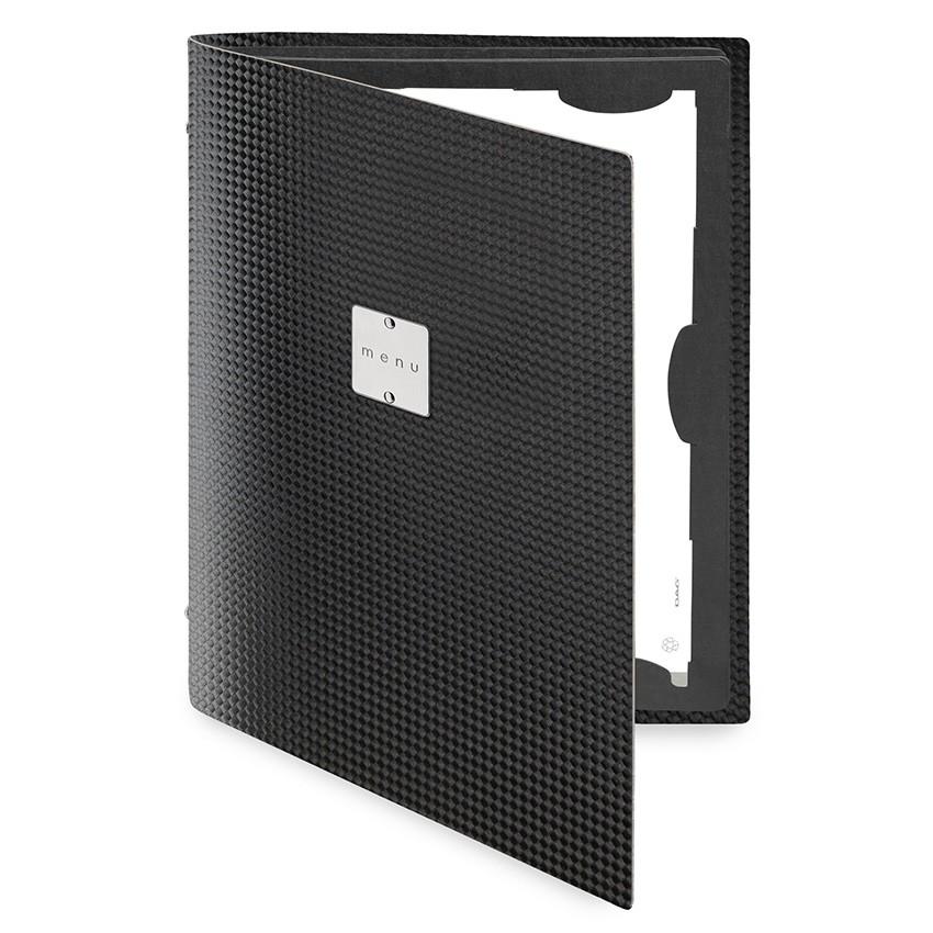 Protège menu FLAP MenuMenu noir aspect carbon