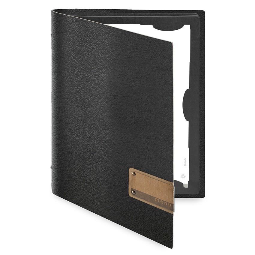 Protège menu FLAP MenuMenu noir aspect lisse