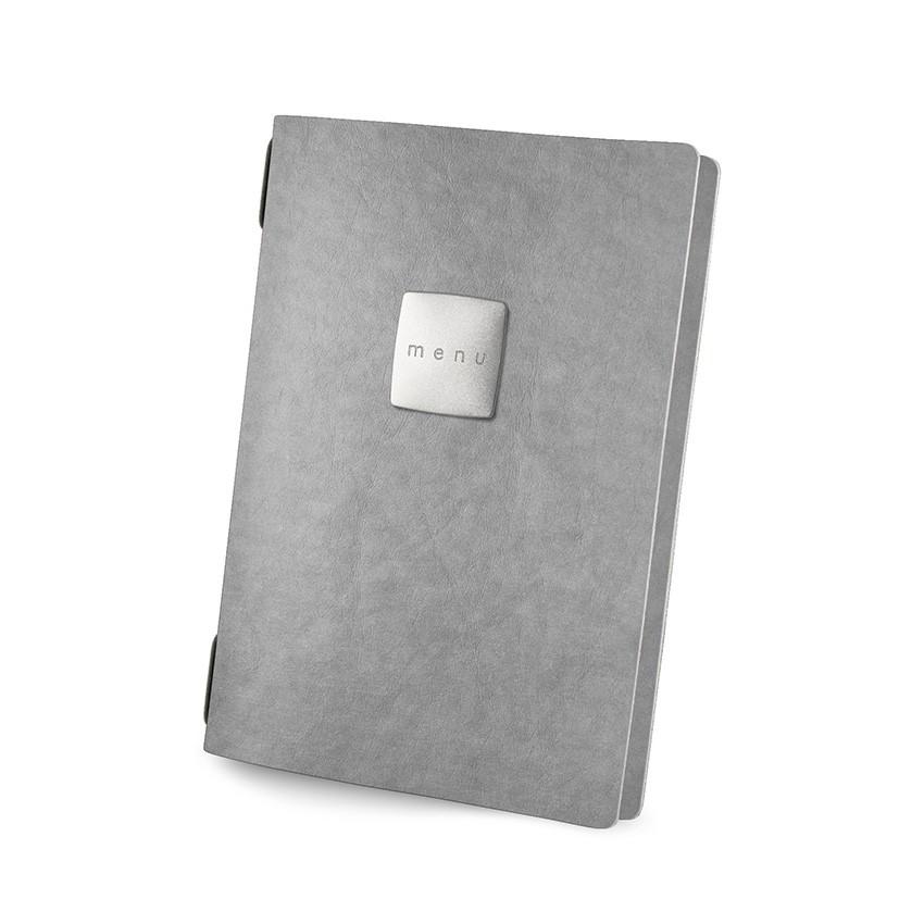 Protège menu GOLFO Ecologique gris aspect fibre lisse