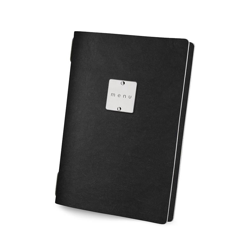 Protège menu GOLFO Ecologique noir aspect fibre lisse