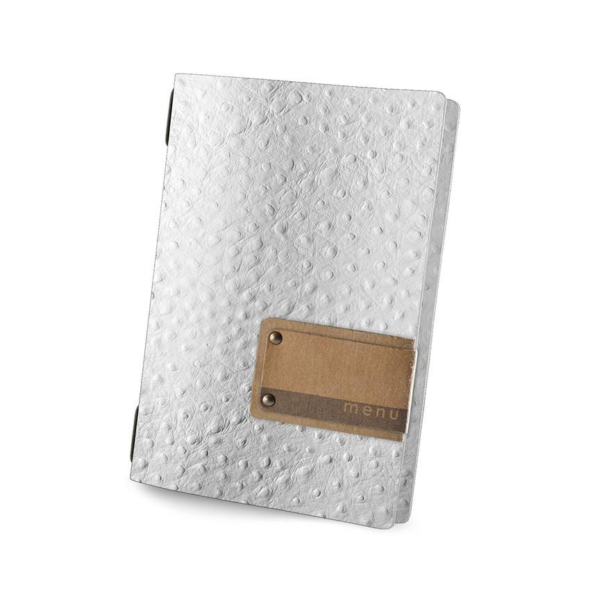 Protège menu GOLFO Fashion blanc aspect peau d'autruche