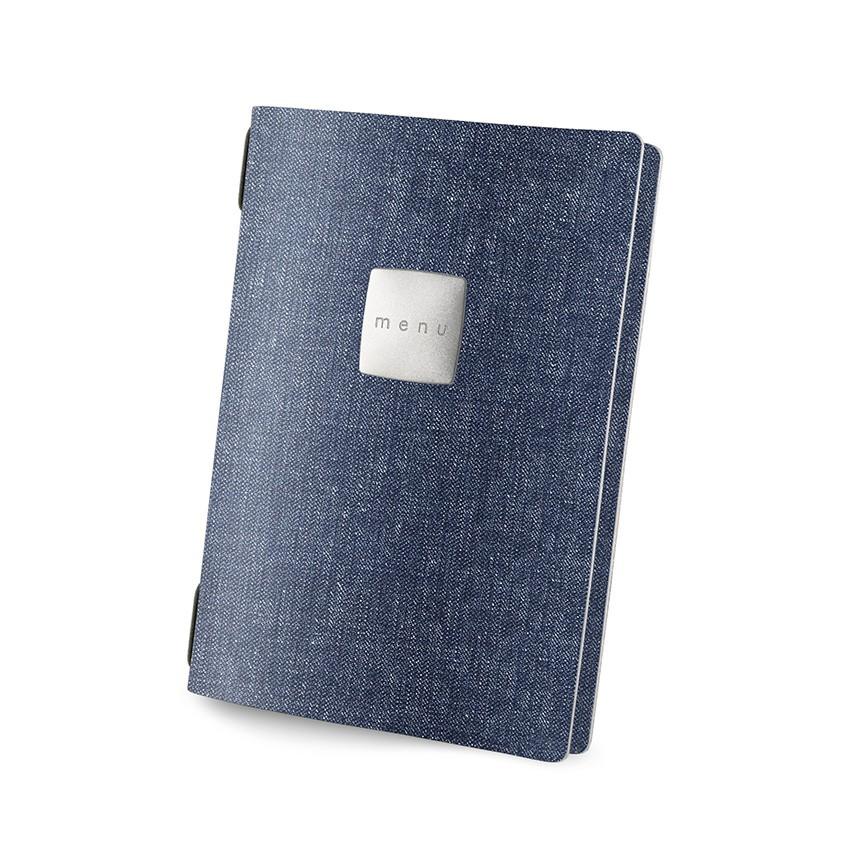 Protège menu GOLFO MenuMenu bleu aspect jean's