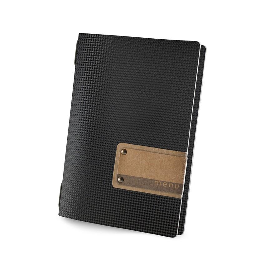 Protège menu GOLFO MenuMenu noir aspect carbon