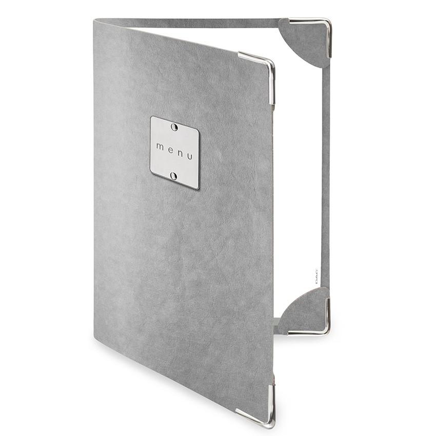 Protège menu DELUXE Ecologique gris aspect fibre lisse