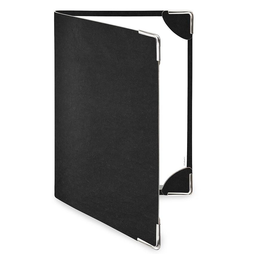 Protège menu DELUXE Ecologique noir aspect fibre lisse