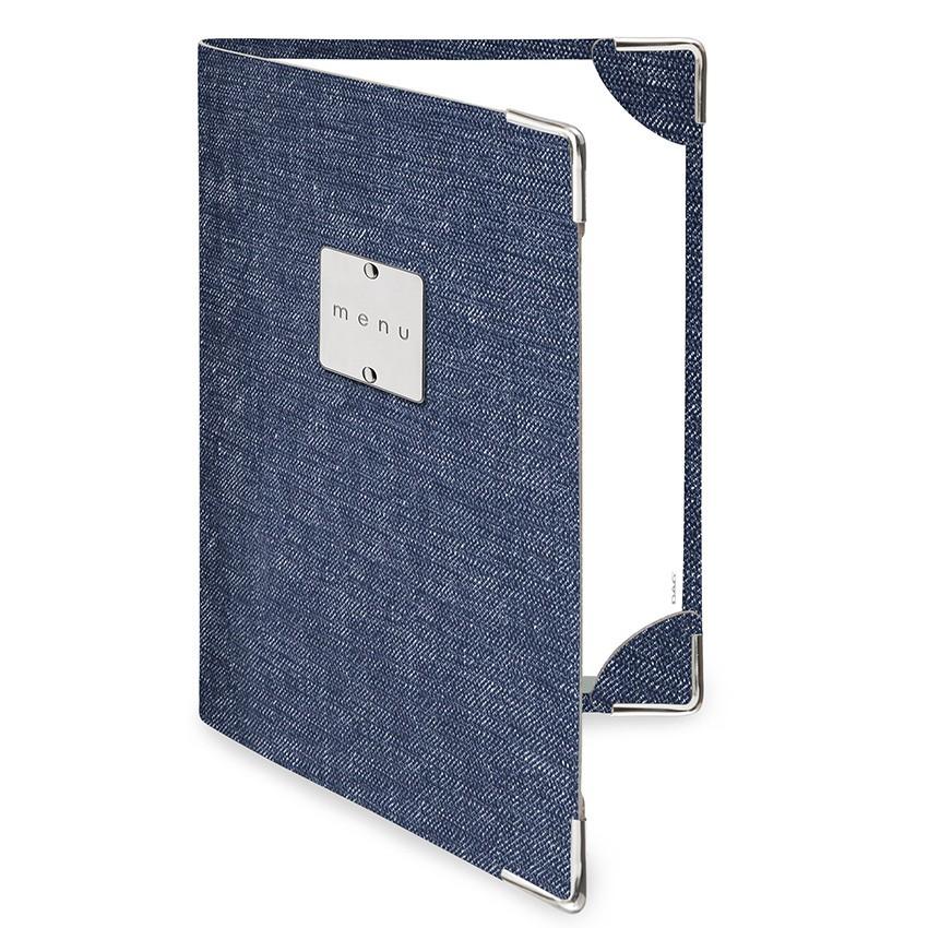 Protège menu DELUXE MenuMenu bleu aspect jean's